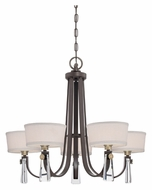 Quoizel UPBY5005WT Uptown Bowery 31 Inch Diameter Western Bronze Lighting Chandelier - 5 Lamps