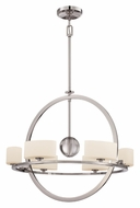 Quoizel UPCC5006IS Uptown Columbus Circle Imperial Silver 28 Inch Diameter Contemporary Chandelier