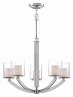 Quoizel UPLB5005BN Uptown Liberty 27 Inch Diameter Brushed Nickel Modern Chandelier - 5 Lamps