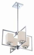 Quoizel WIN5004C Wain Modern 22 Inch Diameter 4 Lamp Pendant Hanging Light - Polished Chrome
