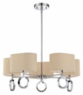Quoizel BRK5005C Brock Modern 23 Inch Diameter Polished Chrome Chandelier Lighting - 5 Lamps