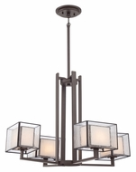 Quoizel FE5004WT Ferndale 4 Lamp Western Bronze Contemporary Chandelier Lighting