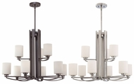 Quoizel TY5009 Taylor Double Tiered Contemporary Nickel Or Bronze Dining Chandelier