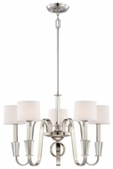 Quoizel UPPA5005IS Uptown Park Avenue Penthouse by Sergio Orozco Medium 5 Light 29 Inch Diameter Silver Finish Chandelier Lighting