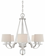Quoizel UPSP5006IS Uptown Sutton Place by Sergio Orozco 6 Light Imperial Silver Chandelier With Shades
