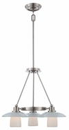 Quoizel UPTV5103BN Uptown Tribeca Living by Sergio Orozco Modern Brushed Nickel 21 Inch Tall Dinette Chandelier