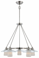 Quoizel UPTV5105BN Uptown Tribeca Living by Sergio Orozco 5 Lamp Contemporary Dinette Chandelier Light