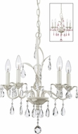 Quoizel OE5005AY Ophelia Antique Ivory Crystal Chandelier Lighting