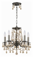 Crystorama 5545-PW-GT-MWP Mirabella Convertible Pewter Finish Golden Teak Crystal Ceiling Light & Pendant