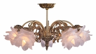 Crystorama 465-OB-SF-L Cecile Olde Brass Finish 17 Inch Diameter 5 Light Ceiling Chandelier - Traditional Glass