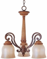 Maxim 11412-WSMC(OSS) Savannah Traditional 3 Light Chandelier (Over-Stock Sale)