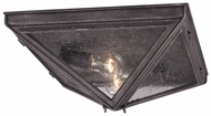 Troy C3200 Bermuda 2 Light Pyramid Flush Mount Lighting Fixture - Pewter