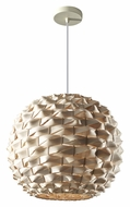 Feiss F2792/1NB Denmark 18 Inch Diameter Natural Bamboo Contemporary Drop Lighting - Large