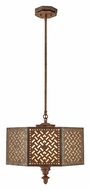 Feiss F2905/3MOB Kandira Moroccan Bronze Finish 19 Inch Diameter Pendant Hanging Lamp