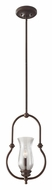 Feiss P1268HTBZ Pickering Lane 9 Inch Diameter Heritage Bronze Pendant Light