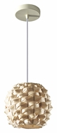 Feiss P1272NB Denmark 9 Inch Diameter Natural Bamboo Hanging Pendant Light - Small