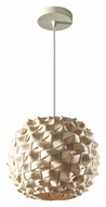 Feiss P1273NB Denmark Contemporary 12 Inch Diameter Natural Bamboo Pendant Lamp - Medium