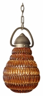 Feiss P1274BUS Wattson 8 Inch Diameter Hanging Light Fixture - Burnished Silver