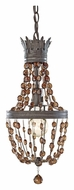 Feiss P1277RI Marcia Mini 8 Inch Diameter Rustic Iron Pendant Light Fixture