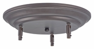 Feiss CK-RD-12.5-ORB Oil Rubbed Bronze 3 Lamp Canopy Kit - 12 Inch Diameter