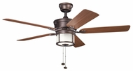 Kichler 310105WCP Deckard 52  Weathered Copper Ceiling Fan Fixture