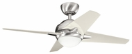 Kichler 300147BSS Rivetta II 42  Modern Ceiling Fan Light Fixture in Brushed Stainless Steel
