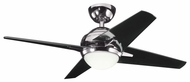 Kichler 300147MCH Rivetta II 42  Modern Home Ceiling Fan in Midnight Chrome
