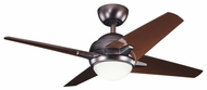 Kichler 300147OBB Rivetta II 42  Oil Brushed Bronze Overhead Ceiling Fan Light Fixture