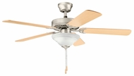 Kichler 339220NI Sterling Manor Select 52  Brushed Nickel Ceiling Fan Light Fixture