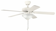 Kichler 339220SNW Sterling Manor Select 52  Satin Natural White Ceiling Fan Chandelier