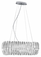 EGLO 89204A Drifter 30 Inch Wide Chrome Drop Ceiling Light Fixture