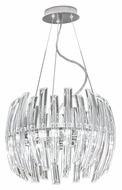 EGLO 89205A Drifter Small Contemporary 16 Inch Diameter Chrome Pendant Lamp