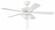 Kichler 339220WH Sterling Manor Select 52  Ceiling Fan in White Finish