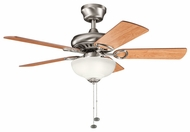 Kichler 337014AP Sutter Place Select 42  Antique Pewter Ceiling Fan Chandelier