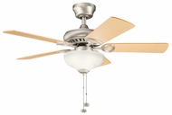Kichler 337014NI Sutter Place Select 42  Brushed Nickel Indoor Ceiling Fan Lighting