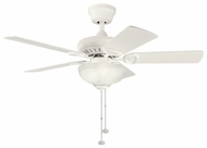 Kichler 337014SNW Sutter Place Select 42  Satin Natural White Home Ceiling Fan Lighting