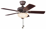 Kichler 337014TZ Sutter Place Select 42  Tannery Bronze Ceiling Fan Chandelier