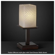 Justice Design 869815 Montana 1-Light Short Table Lamp with Flat Rim Square Glass