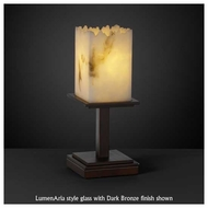 Justice Design 869817 Montana 1-Light Short Table Lamp with Broken Rim Square Glass