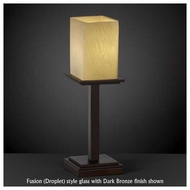 Justice Design 869915 Montana 1-Light Tall Table Lamp with Flat Rim Square Glass