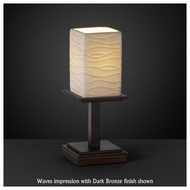 Justice Design POR869815 Montana 1-Light Short Table Lamp with Porcelain Glass
