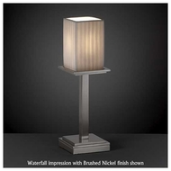 Justice Design POR869915 Montana 1-Light Tall Table Lamp with Porcelain Glass