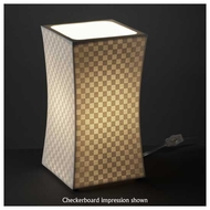 Justice Design POR8870 Hourglass Square Porcelain Table Lamp