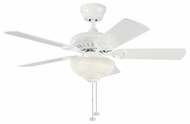 Kichler 337014WH Sutter Place Select 42  White Chandelier Ceiling Fan