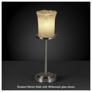 Justice Design GLA879916 Dakota 1-Light Tall Table Lamp with Rippled Rim Cylinder Glass