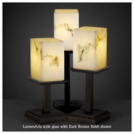 Justice Design 869715 Montana 3-Light Table Lamp with Flat Rim Square Glass