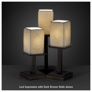 Justice Design POR869715 Montana 3-Light Table Lamp with Porcelain Glass
