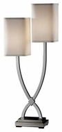 Feiss 9929PN Carlin 2-Light Contemporary Table Lamp