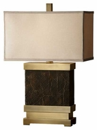 Feiss 9969DCBSB Dalton Wide Contemporary Table Lamp in Dark Coffee Bronze
