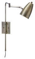 House of Troy C175-AB Cambridge Swing Arm Antique Brass Wall Lamp Sconce - 29 Inches Tall